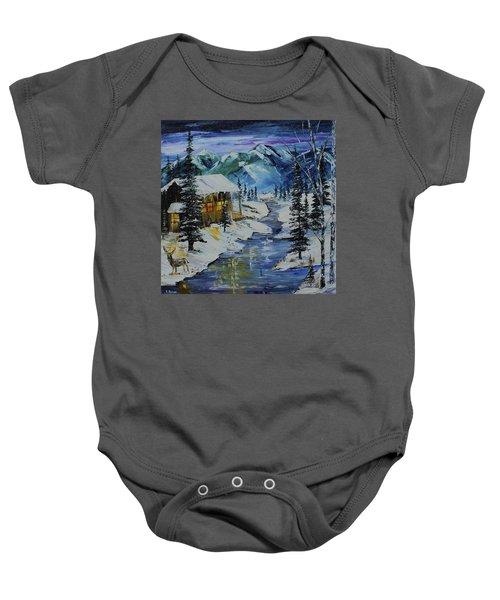 Winter Mountains Baby Onesie