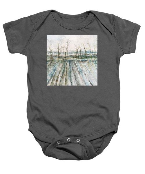 Winter On The Delta Baby Onesie