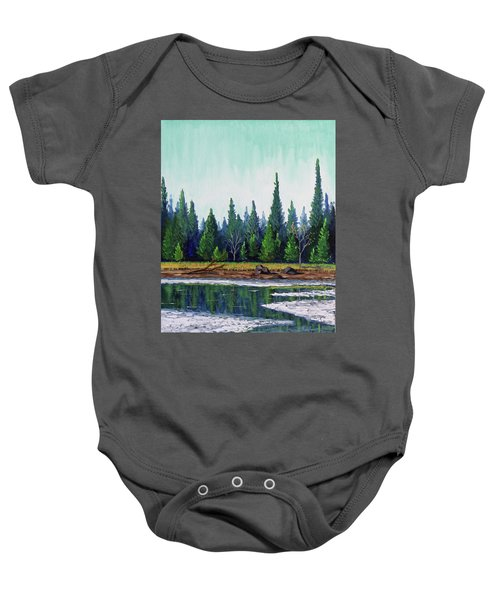Winter Pond Baby Onesie