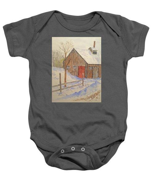 Winter Sugar House Baby Onesie