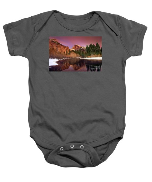 Winter Sunset Lights Up Half Dome Yosemite National Park Baby Onesie