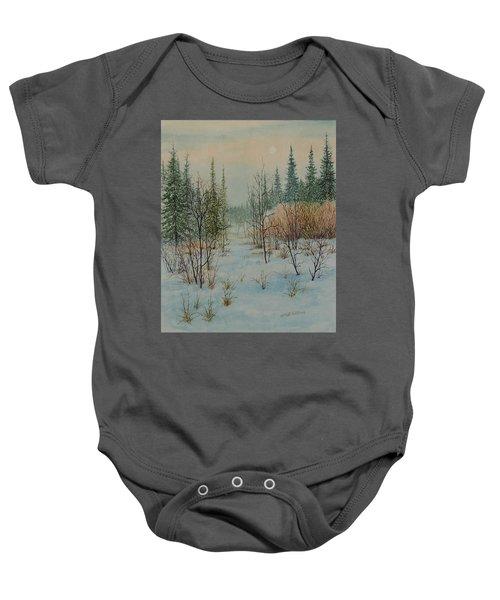 Winter Trail Alberta Baby Onesie