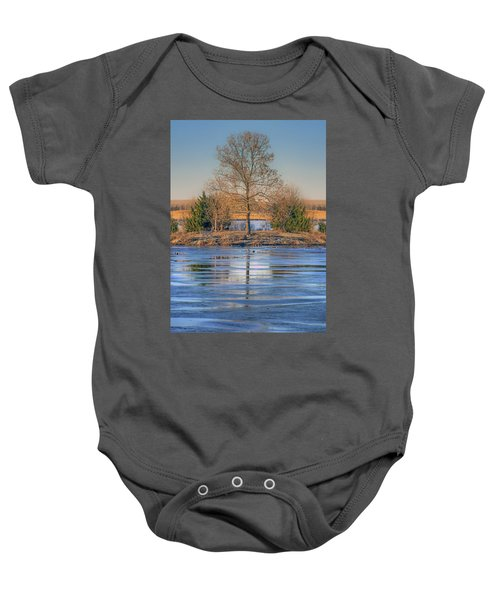 Winter Tree - Walnut Creek Lake Baby Onesie
