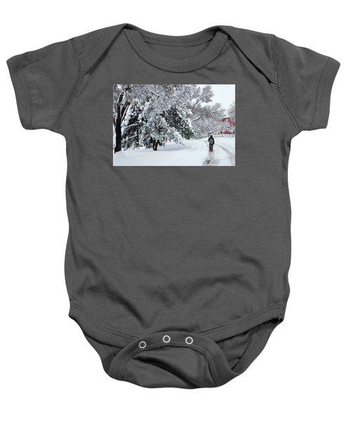 Winter Trekking-3 Baby Onesie
