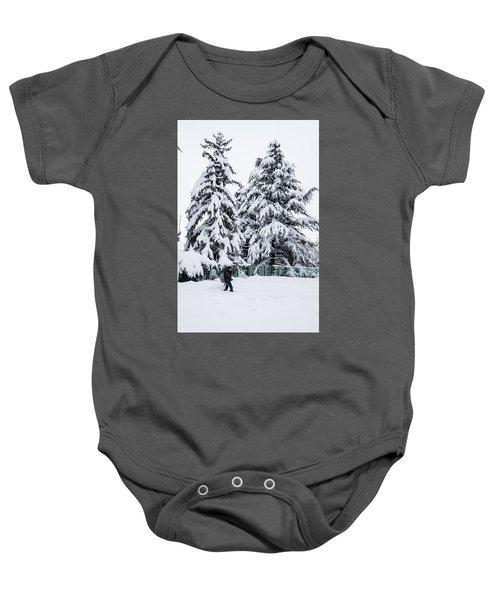 Winter Trekking Baby Onesie