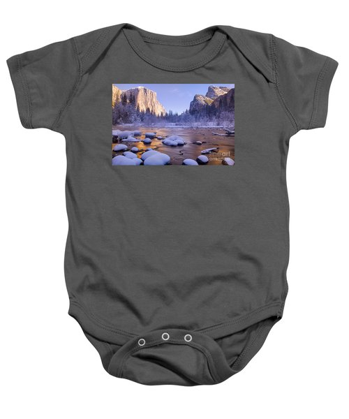 Baby Onesie featuring the photograph Winter Wonderland by Vincent Bonafede
