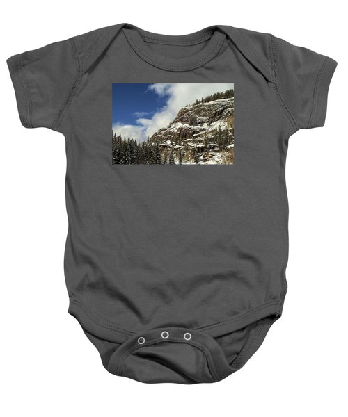 Wolf Creek Pass In Winter Baby Onesie