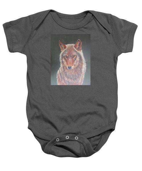 Wolf Portrait Baby Onesie