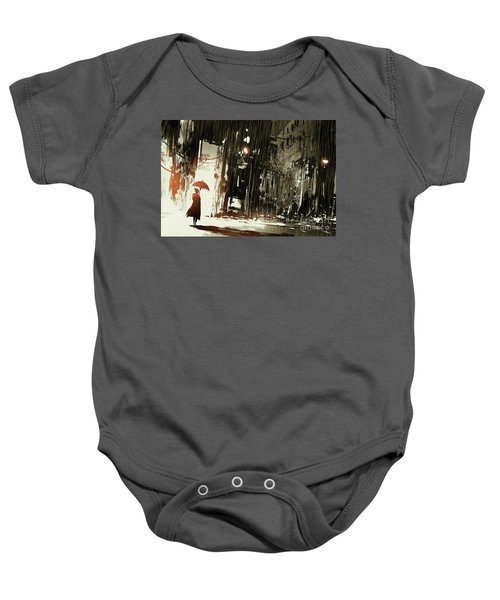 Woman In The Destroyed City Baby Onesie