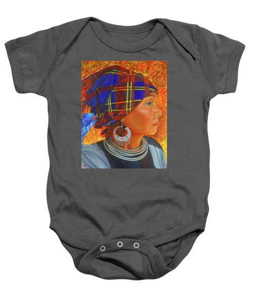 Woman In The Shadow Baby Onesie