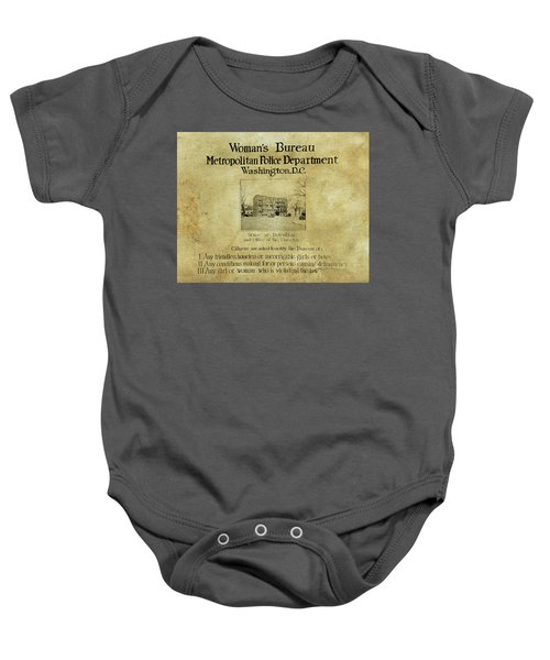 Women's Bureau House Of Detention Poster 1921 Baby Onesie