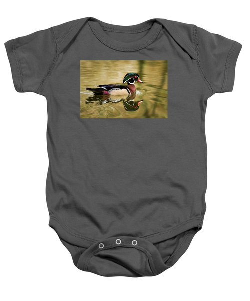 Wood Duck Cruising Baby Onesie