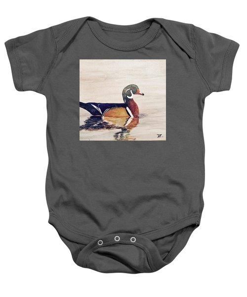 Wood Duck Baby Onesie