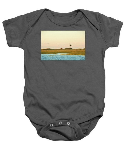 Wood End Lighthouse Baby Onesie