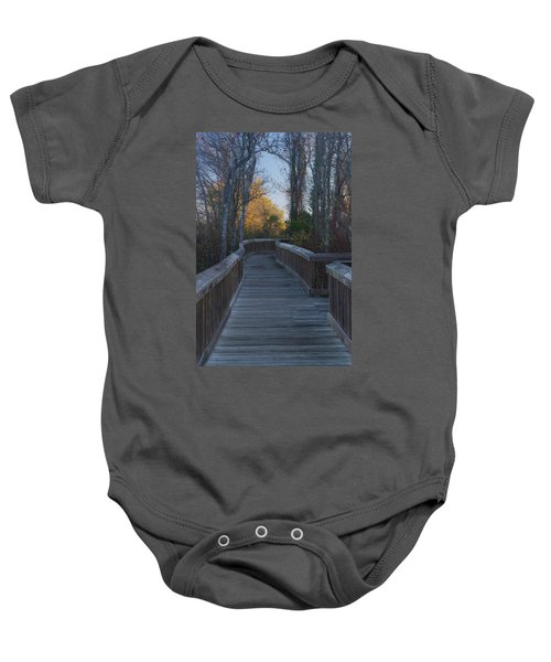 Wooden Path Baby Onesie