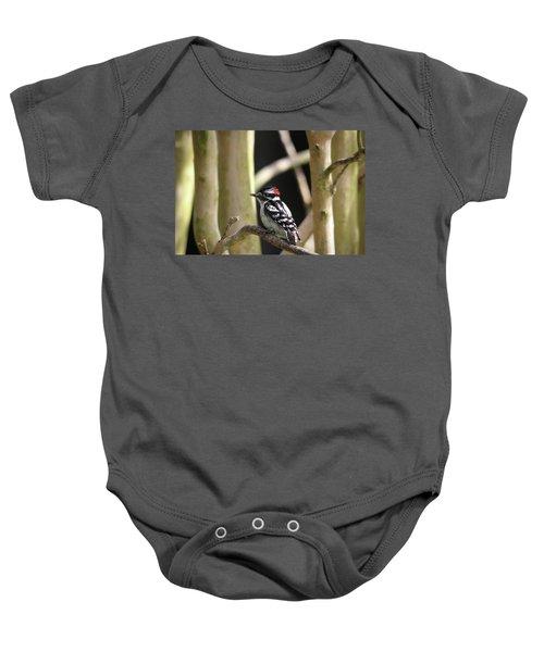 Downy Woodpecker Baby Onesie