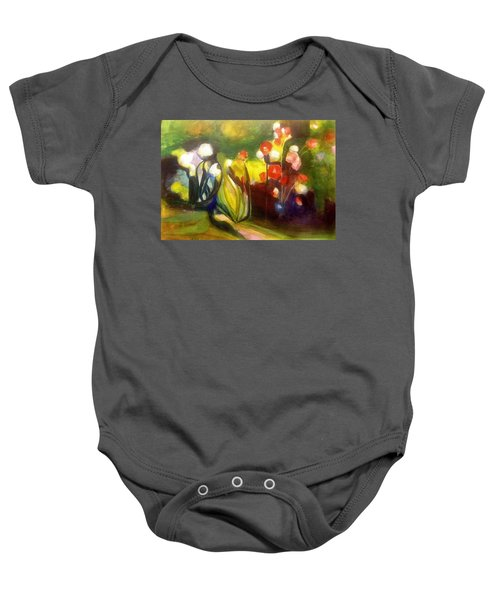Warm Flowers In A Cool Garden Baby Onesie