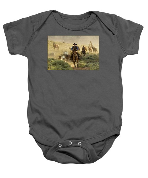 Wrangling The Horses At Sunrise  Baby Onesie