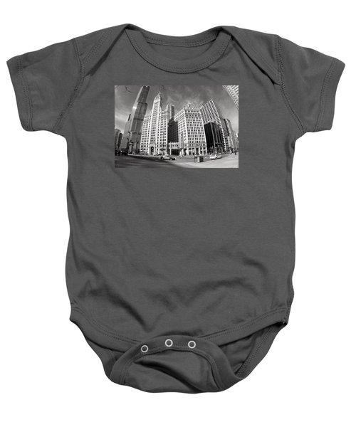 Wrigley Building - Chicago Baby Onesie