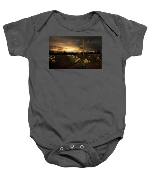 Wye Mountain Sunset Baby Onesie