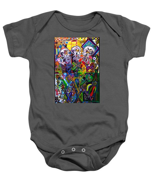 Xxxkull The Xxxiamese Twins  Baby Onesie