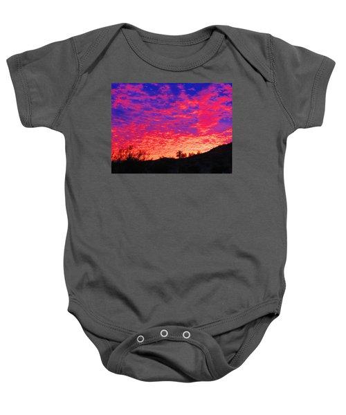 Y Cactus Sunset 1 Baby Onesie