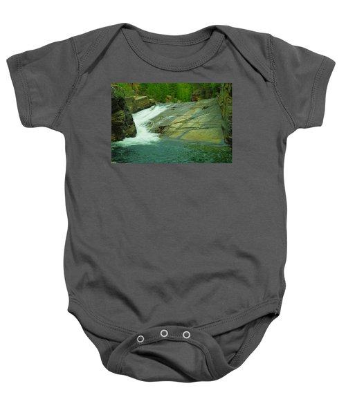 Yak Falls   Baby Onesie by Jeff Swan