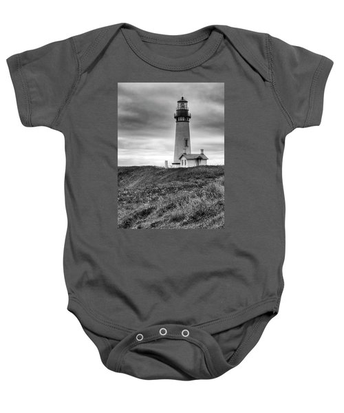 Yaquina Head Lighthouse - Monochrome Baby Onesie