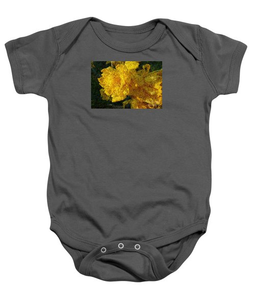 Yellow Abstraction Baby Onesie