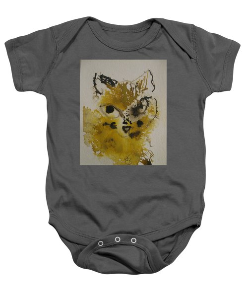 Yellow And Brown Cat Baby Onesie