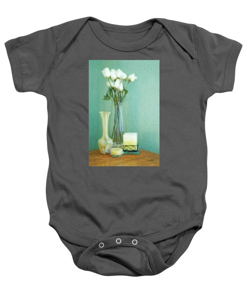 Yellow And Green Baby Onesie