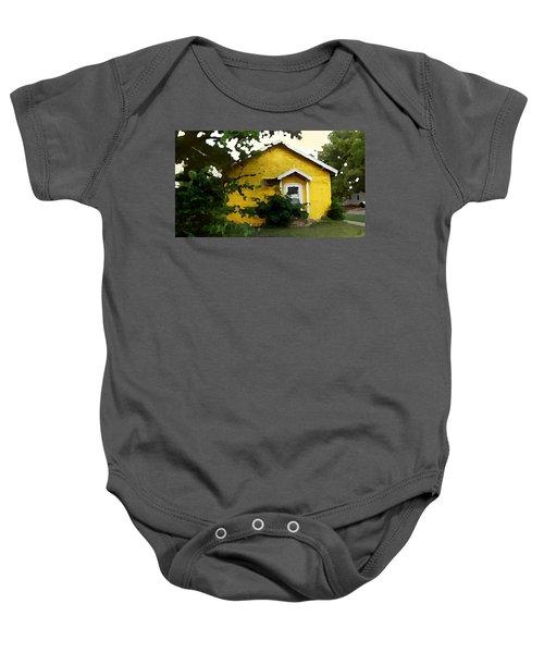 Yellow House In Shantytown  Baby Onesie