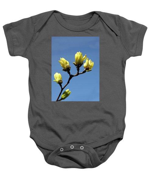 Yellow Magnolia Baby Onesie