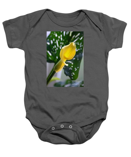 Yellow Mini Calla Lilies Baby Onesie