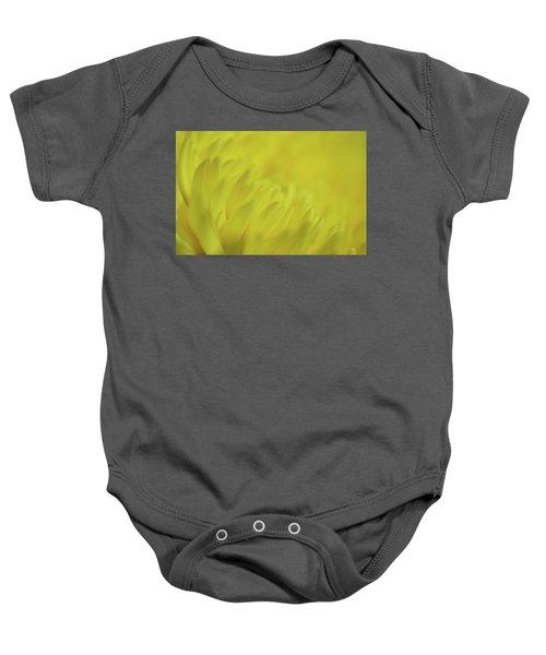 Yellow Mum Petals Baby Onesie