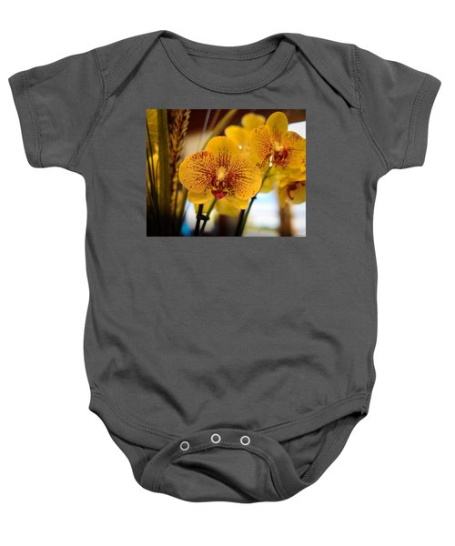 Yellow Orchis Baby Onesie
