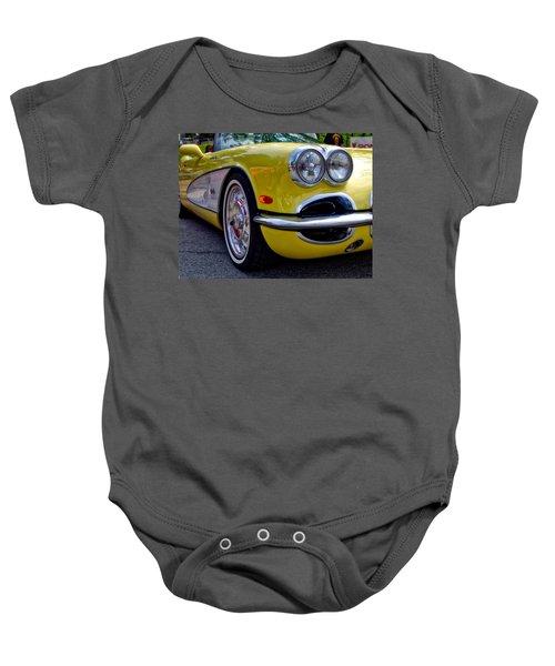 Yellow Vette Baby Onesie