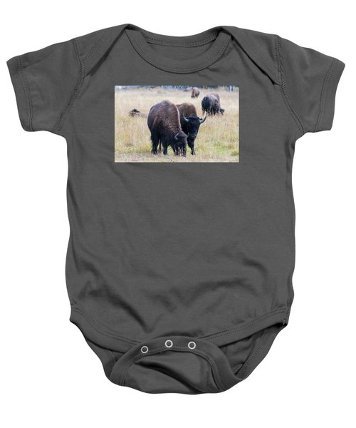 Baby Onesie featuring the photograph Yellowstone Bison by Jennifer Ancker