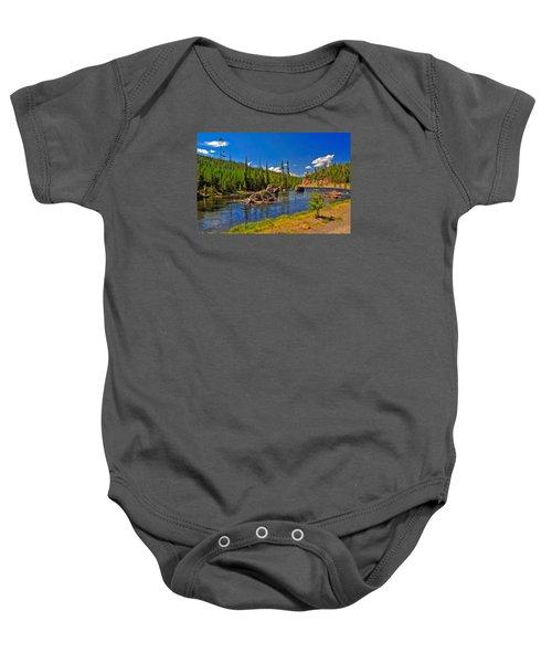 Yellowstone River Baby Onesie