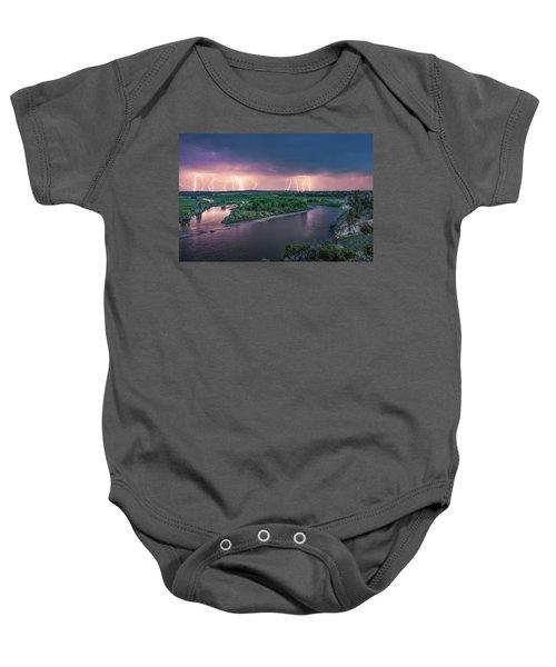 Yellowstone River Lightning Baby Onesie