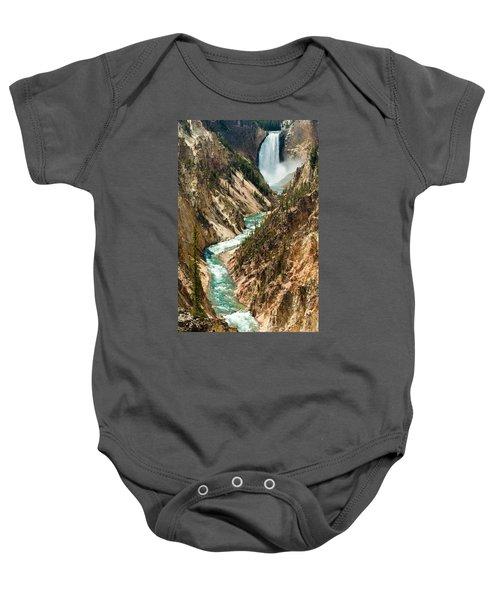 Yellowstone Waterfalls Baby Onesie