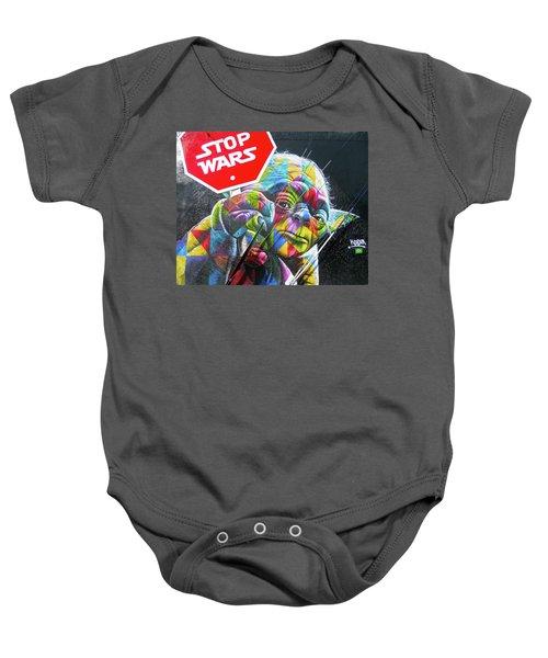 Yoda - Stop Wars Baby Onesie