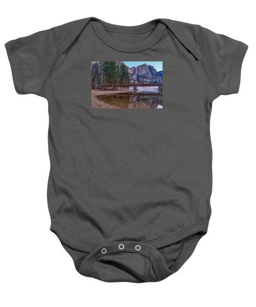 Yosemite Falls At The Swinging Bridge Baby Onesie