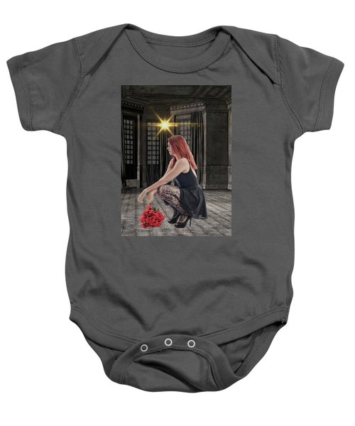 You Dont Bring Me Flowers Baby Onesie
