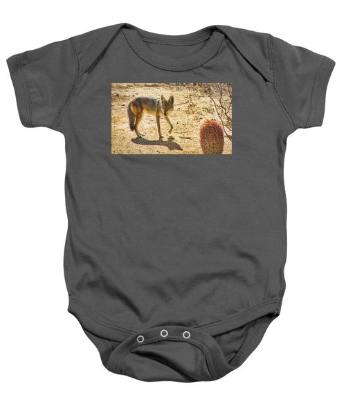 Young Coyote And Cactus Baby Onesie