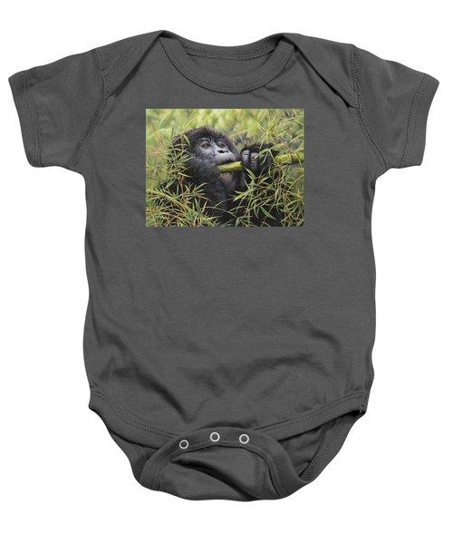 Young Mountain Gorilla Baby Onesie