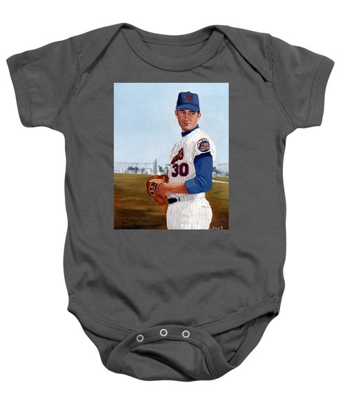 Young Nolan Ryan - With Mets Baby Onesie