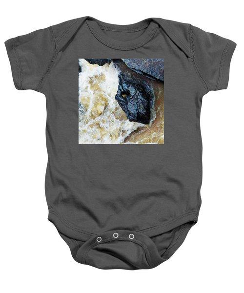 Yuba Blue Boulder In Stormy Waters Baby Onesie