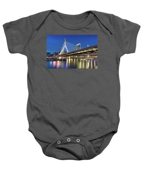 Zakim Bridge And Charles River Baby Onesie