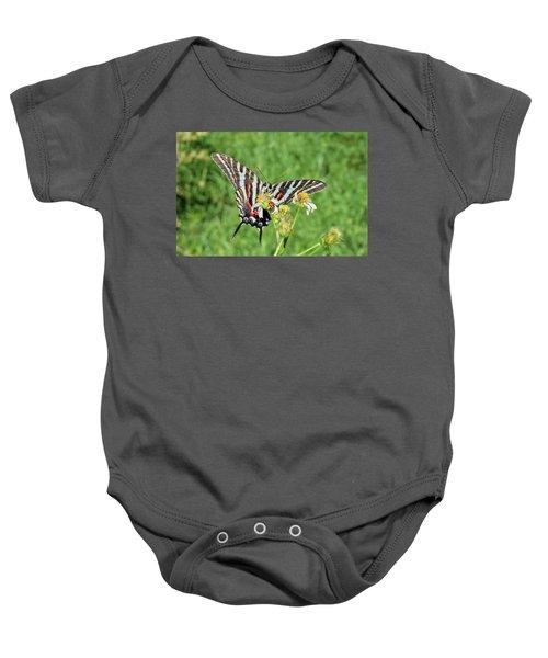 Zebra Swallowtail And Ladybug Baby Onesie